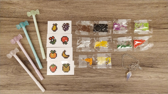 FRUITY DIAMOND PAINTING STICKERS & DRILL PEN SET - DIYMoon Shop