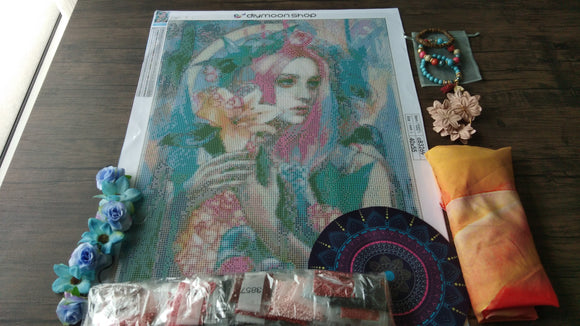 SUMMER OF LOVE LIMITED EDITION by LIOBA BRÜCKNER Diamond Painting DIY Kit FULL DRILL