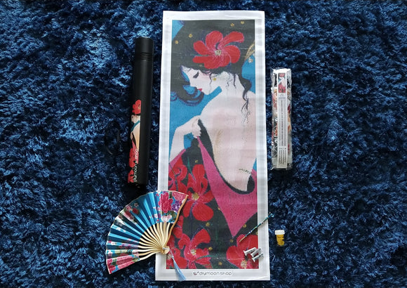 LIMITED EDITION KIMONO by CATHY DELANSSEY Diamond Painting DIY Kit FULL DRILL - DIYMoon Shop