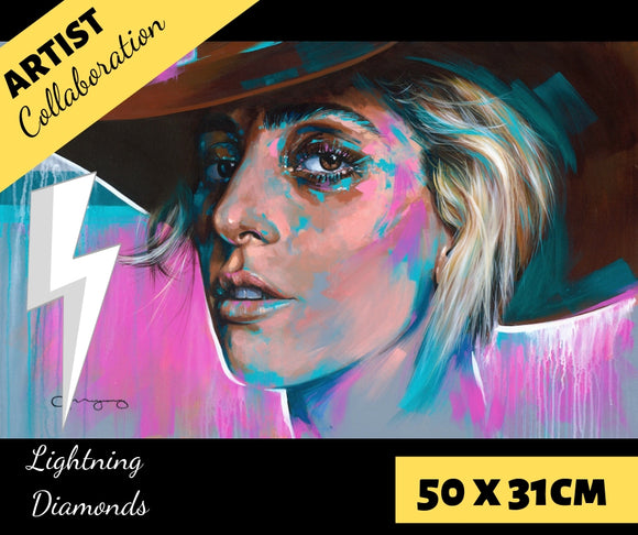 GAGA by Jack Magurany Diamond Painting DIY Kit 50 x 31 cm FULL DRILL with LIGHTNING DIAMONDS