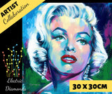 MONROE by Jack Magurany Diamond Painting DIY Kit 30 x 30 cm FULL DRILL with ELECTRIC DIAMONDS - DIYMoon Shop
