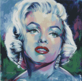 MONROE by Jack Magurany Diamond Painting DIY Kit 50 x 50 cm FULL DRILL with ELECTRIC DIAMONDS - DIYMoon Shop
