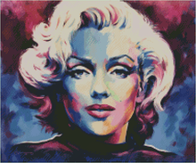 MARILYN BLUE by Jack Magurany Diamond Painting DIY Kit 50 x 60 cm FULL DRILL with LIGHTNING DIAMONDS