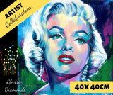 MONROE by Jack Magurany Diamond Painting DIY Kit 40 x 40 cm FULL DRILL with ELECTRIC DIAMONDS