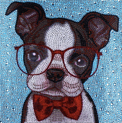 PROFESSOR PUP Diamond Painting DIY Kit  25 x 25 cm Multi-Sized Crystals and Electric Diamonds