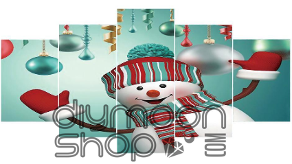 SMILING SNOWMAN Diamond Painting DIY Kit 95 x 45 cm FULL DRILL Round Beads