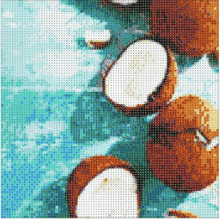 COCONUTS Diamond Painting DIY Kit 30x30cm FULL DRILL Round Beads