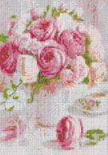 PINK BOUQUET Diamond Painting DIY Kit 30 x 40 cm FULL DRILL Round Beads