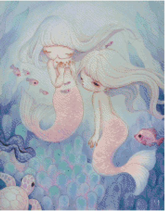 SONG OF THE SEA by YISHU WANG Diamond Painting DIY Kit FULL DRILL - DIYMoon Shop