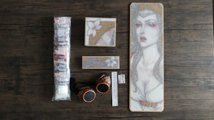 TAIYO NAUTA NOUVEAU by Medusa The Dollmaker BEAD BOARD WITH DIAMOND PAINTING BOXES & STEAMPUNK GOGGLES SET  Diamond Painting Tools and Accessories - DIYMoon Shop