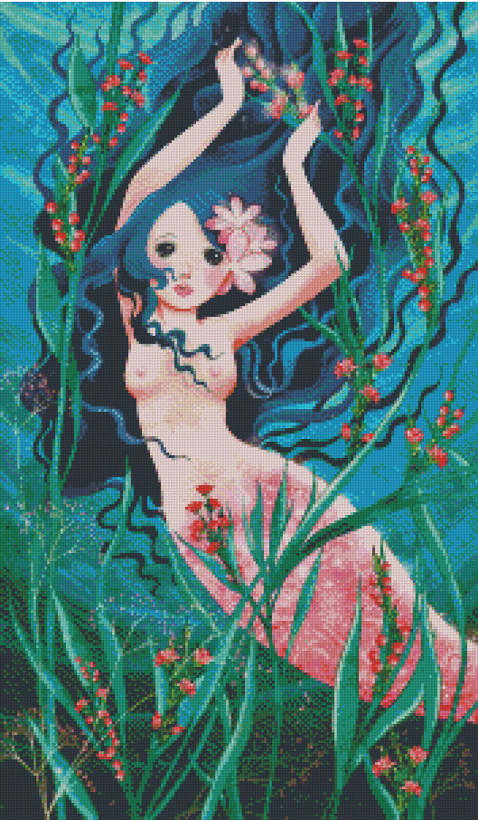 THE MERMAID by CATHY DELANSSAY Diamond Painting DIY Kit FULL DRILL - DIYMoon Shop