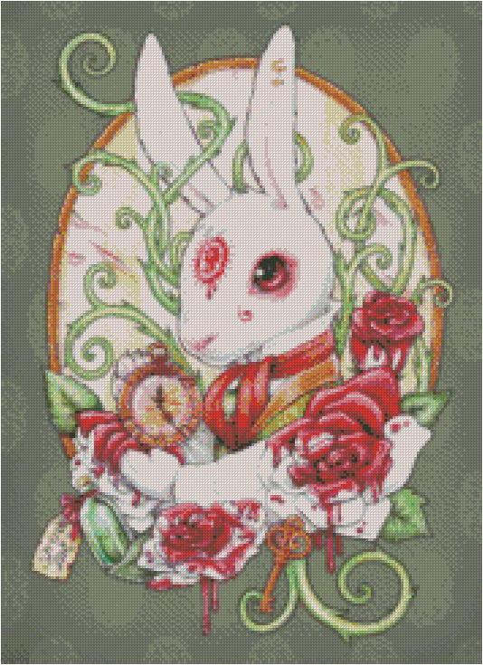 RABBIT HOLE By Medusa The Dollmaker Diamond Painting DIY Kit FULL DRILL - DIYMoon Shop