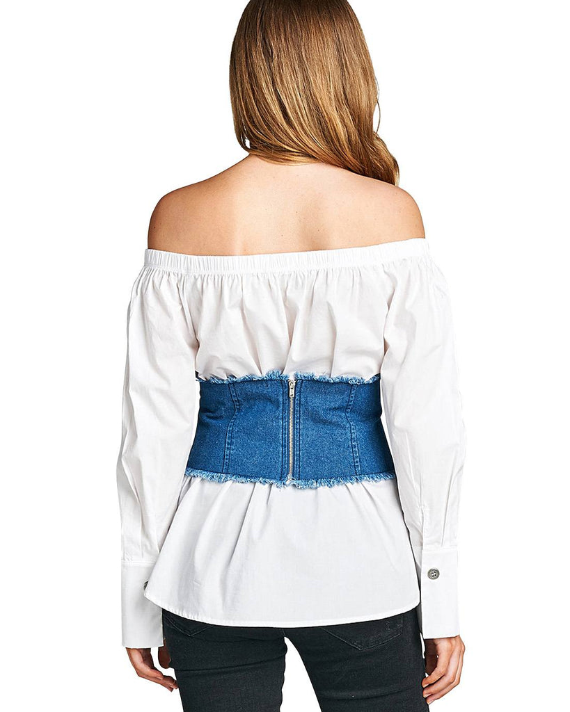 Fashion denim corset - Flix Shopping