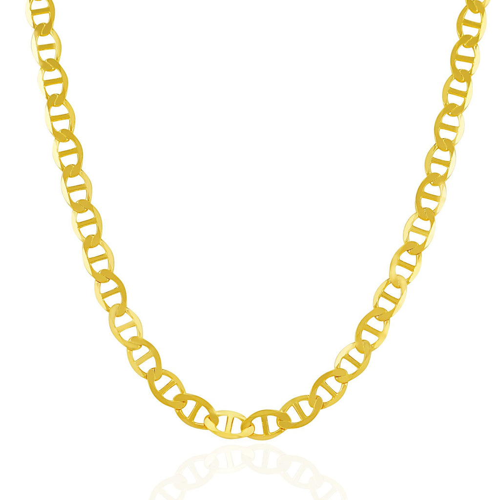 6.3mm 14k Yellow Gold Mariner Link Chain
