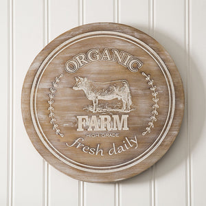 """Farm"" Wood Lazy Susan"
