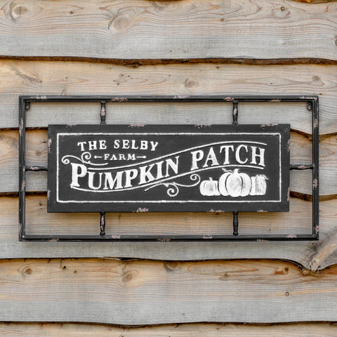 Pumpkin Patch Metal Wall Sign