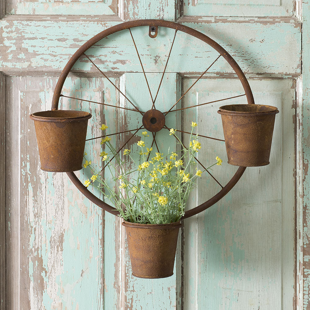 Bicycle Wheel Wall Planter