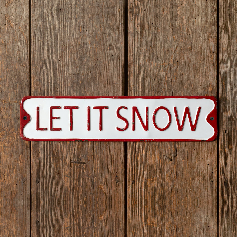 """Let it Snow"" Metal Wall Sign"