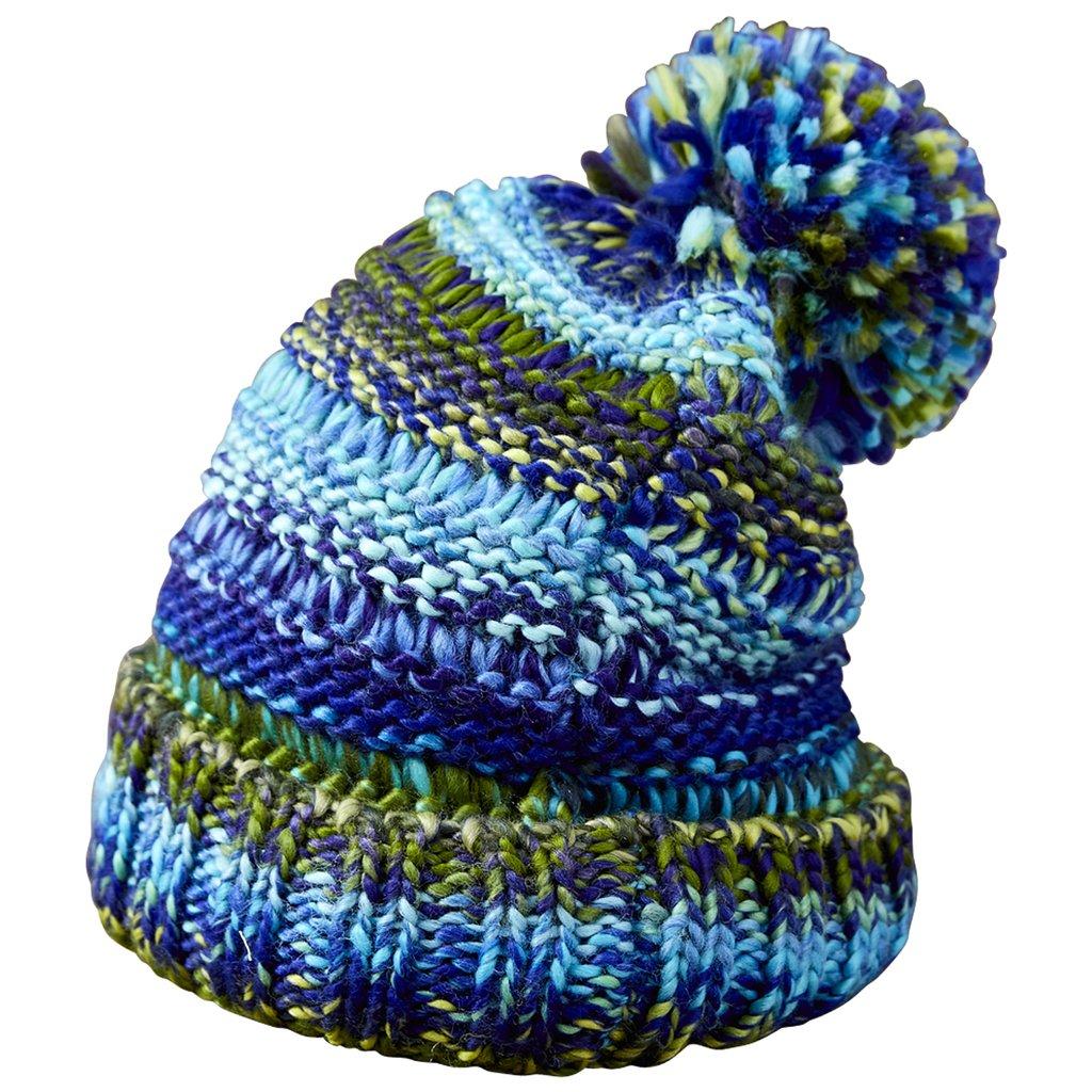 Ombre Knit Hat - Blue & Green  804787
