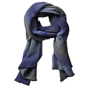 Ombre Ridged Scarf - Purple & Gray 804831