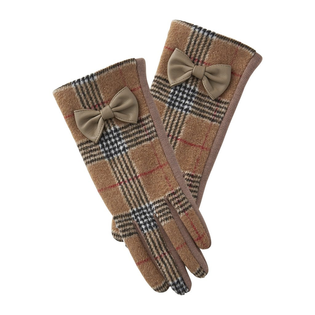 Kahaki & Black Kennedy Plaid Gloves 810312