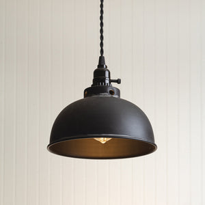 Dome Pendant Light - Black
