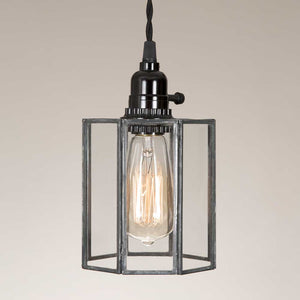 Glass Drum Pendant Lamp