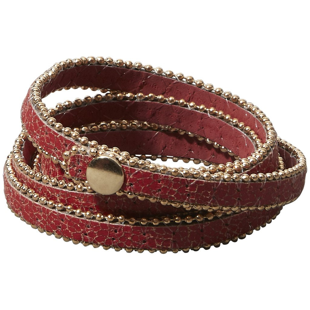 Long Faux Leather Wrap - Red 810255