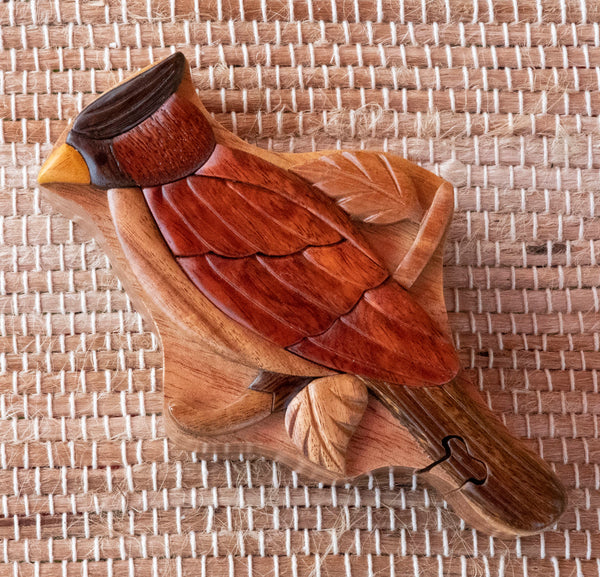 Keepsake Wood Puzzle Box -Cardinal Bird PUZ1113