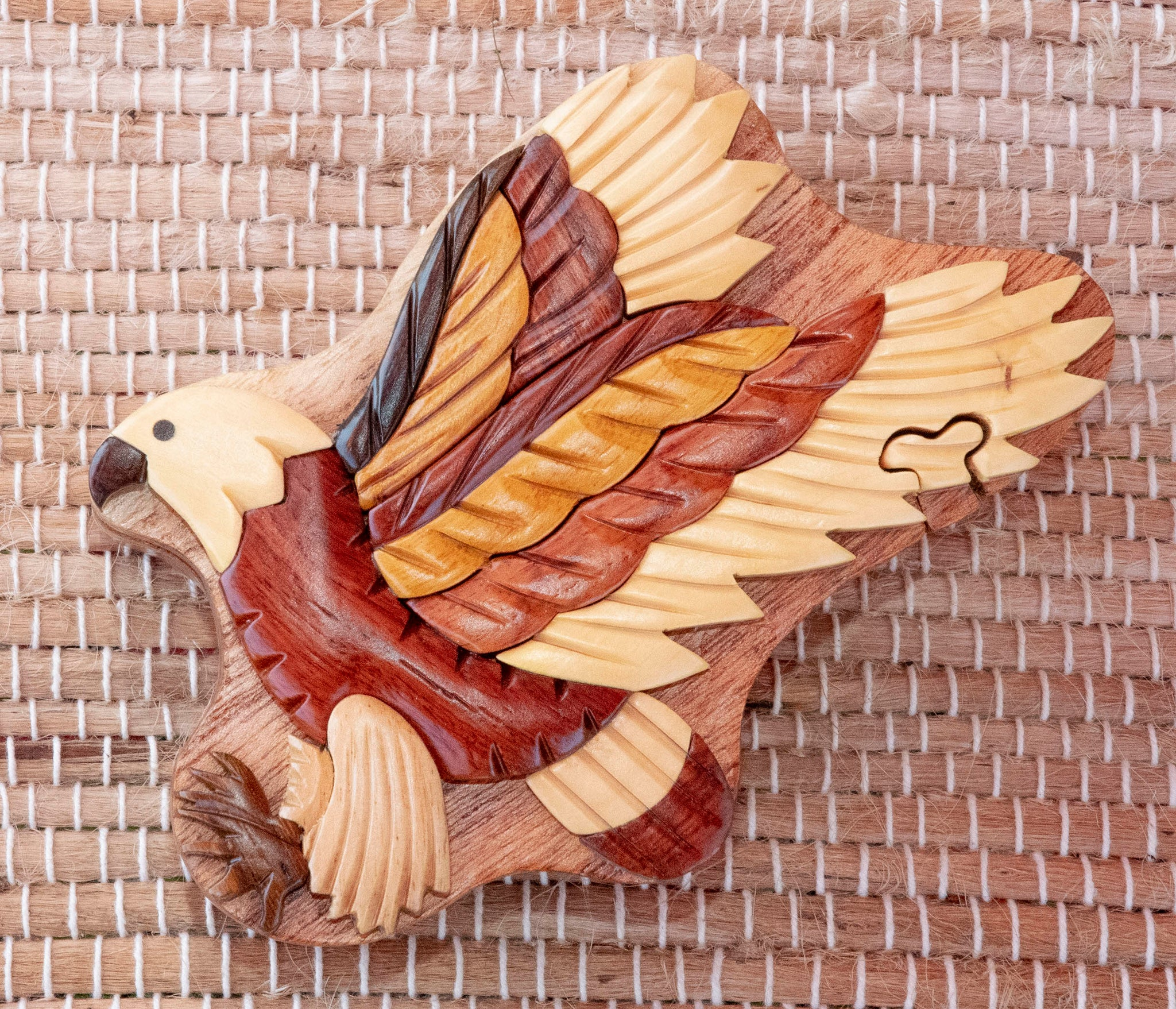 Keepsake Wood Puzzle Box - Flying Eagle PUZ1058