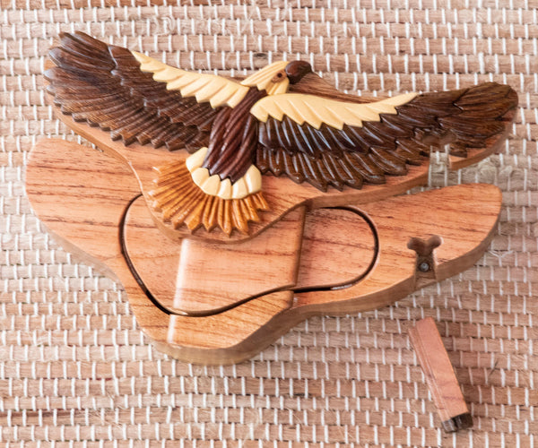 Keepsake Wood Puzzle Box - Hawk PUZ1164