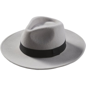 Gray Hilary Wool Panama Hat 810961