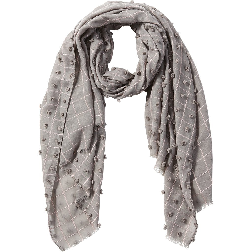 Gray Knotted Squares Scarf 810847