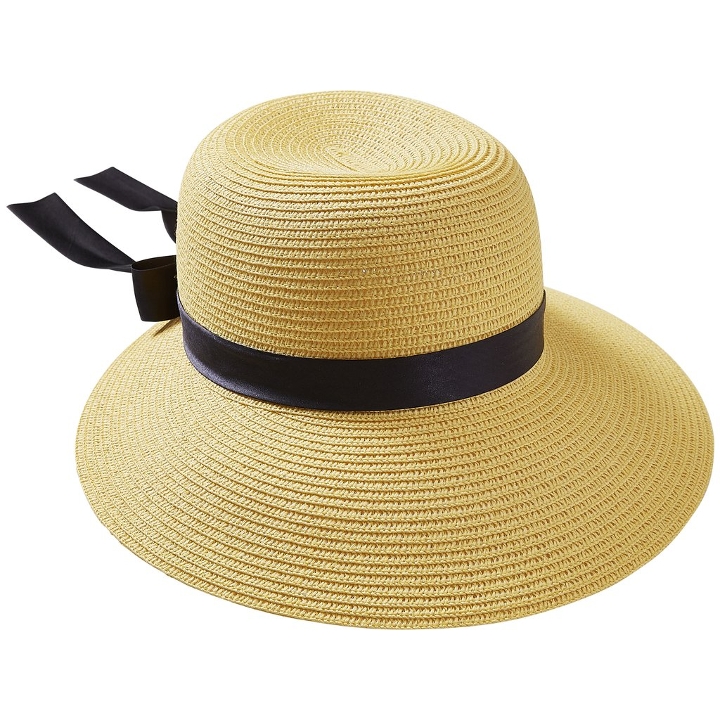 Yellow With Black Bow Classic Madeline Hat 810752