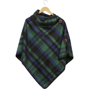 Spruce Patrick Plaid Button Poncho 810924