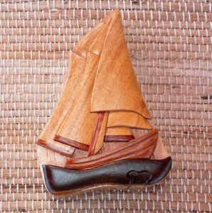 Keepsake Wood Puzzle Box - Sailboat PUZ1124