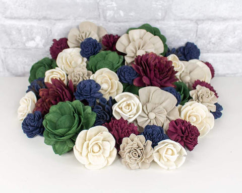 Sola Wood Flowers - Jewel Tone Assortment