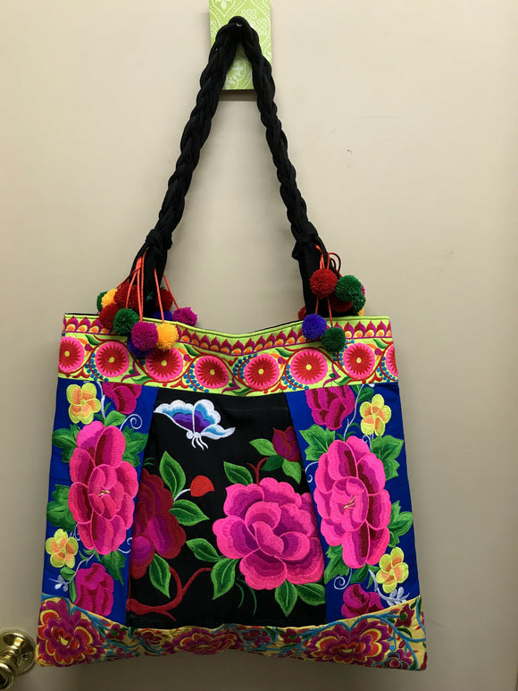 Large Embroidered Tote T8