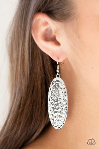 Radiantly Radiant-silver-Paparazzi earrings