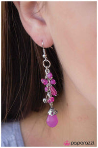 Grape Cascade - Paparazzi earrings