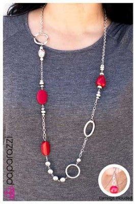 In the Red - Paparazzi necklace