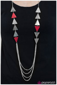Career Woman - red - Paparazzi necklace