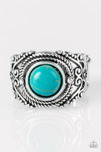 Stand Your Ground - blue - Paparazzi ring