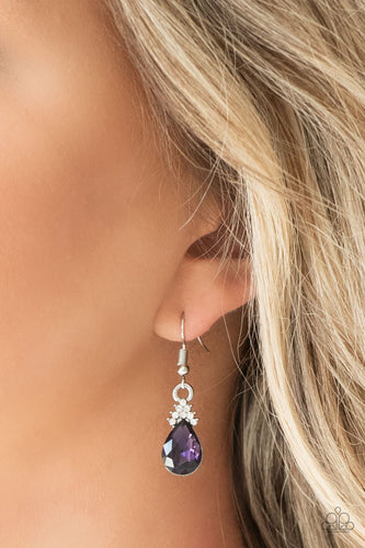 5th Avenue Fireworks - purple - Paparazzi earrings