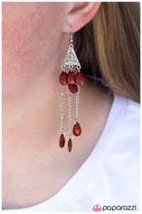 Ruby Elegance - Paparazzi earrings