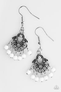 A COAST Call - White - Paparazzi earrings