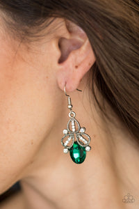 A Crown Pleaser - green - Paparazzi earrings