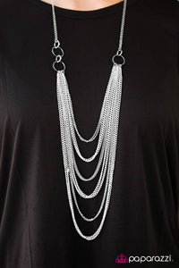 A For Asymmetrical - White - Paparazzi necklace
