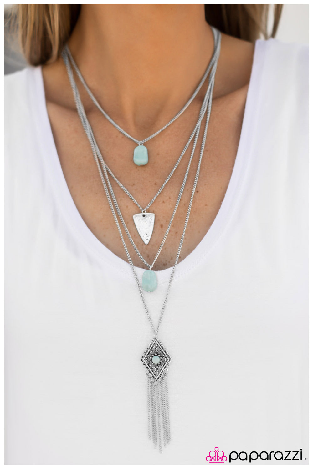 A Gypsy Soul - Blue - Paparazzi necklace