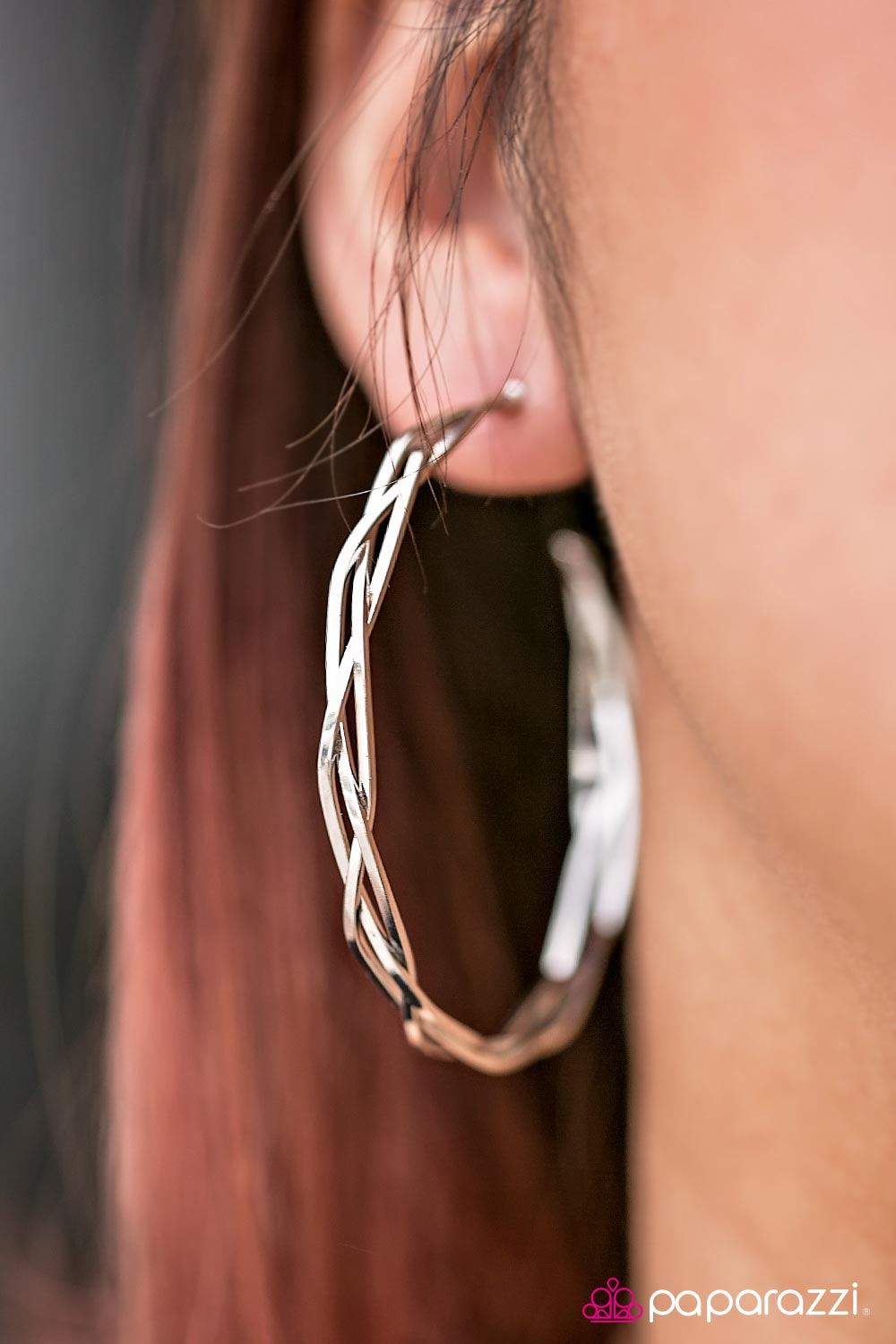 A HOOP, Skip, and A Jump - Silver - Paparazzi earrings